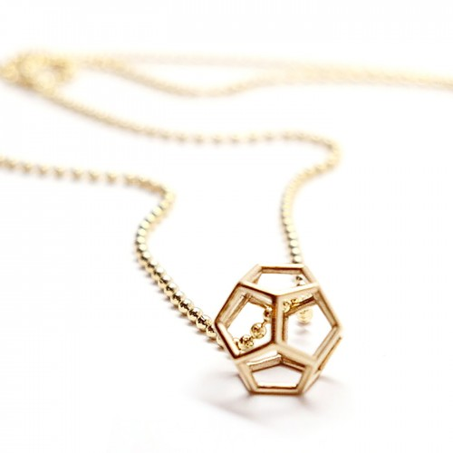 single dodecahedron close up